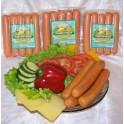 Сосиски пикантные с копчёным сыром