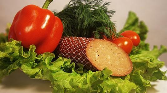 Колбаса полукопчёная с сыром